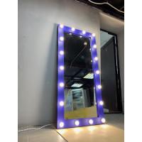 Гримерное зеркало с подсветкой 180х80 фиолетовое